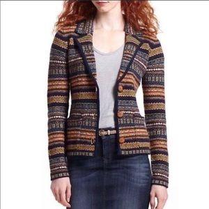 Anthropologie Sparrow Fair Isle Cardigan Sweater